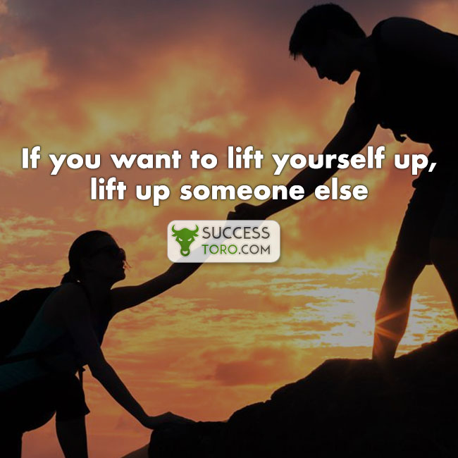 lift someone up