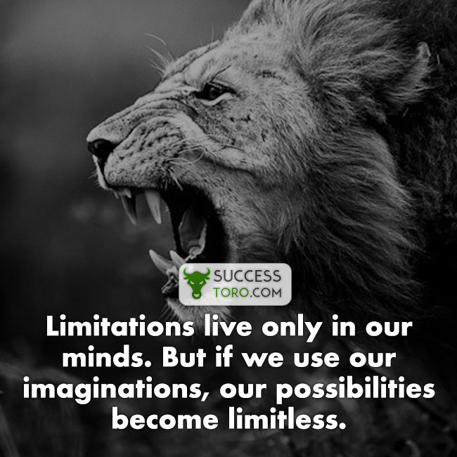 limitations exist only in the mind