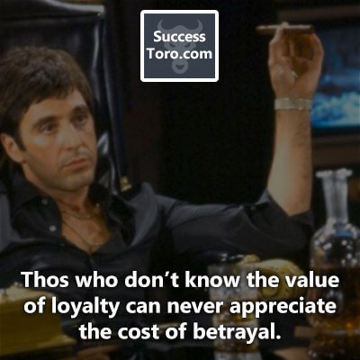 """Those who don't know the value of loyalty can never appreciate the cost of betrayal."""
