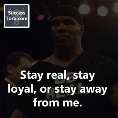 Stay Real Quote