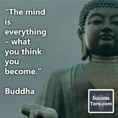 """""""The mind is everything – what you think you become."""" – Buddha"""